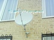 Установка,  настройка телевизионных ТВ антенн эфирных,  спутниковых