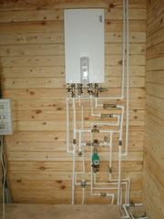 Отопление под ключ от 9000 рублей. Водоснабжение,  коммуникации.