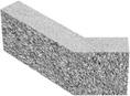 Сплитерный перегородочный Г-образный блок