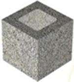 Полублок из керамзитобетона